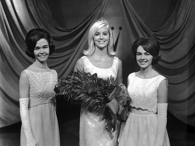 Cybill Shepherd (Center), a senior at East High School,