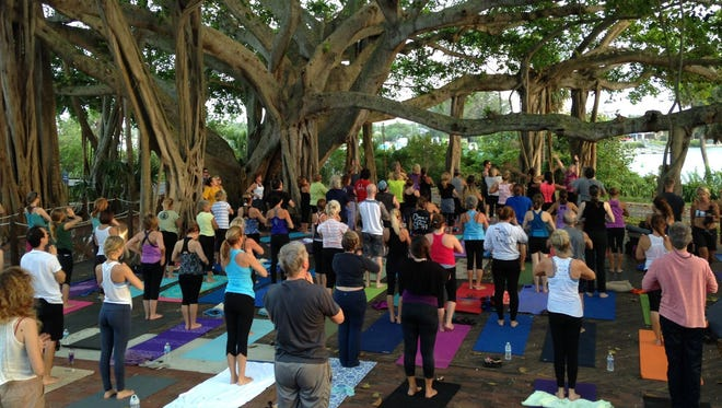 TWILIGHT YOGA AT THE LIGHT - Experience the serenity of Yoga with Mary Veal, Kula Yoga Shala, on the Lighthouse Deck at sunset every Monday. This is an all levels class, and beginners are welcomed and encouraged. Offered by donation. Bring a yoga mat, water bottle and flashlight. Meet at the Jupiter Inlet Lighthouse & Museum 10 minutes prior to start time of 6 p.m. Class is weather dependent - please check website for updates and future start times. Jupiter Inlet Lighthouse & Museum is at500 Captain Armour's Way, Jupiter. Visitwww.jupiterlighthouse.orgor call 561-747-8380 for more information.