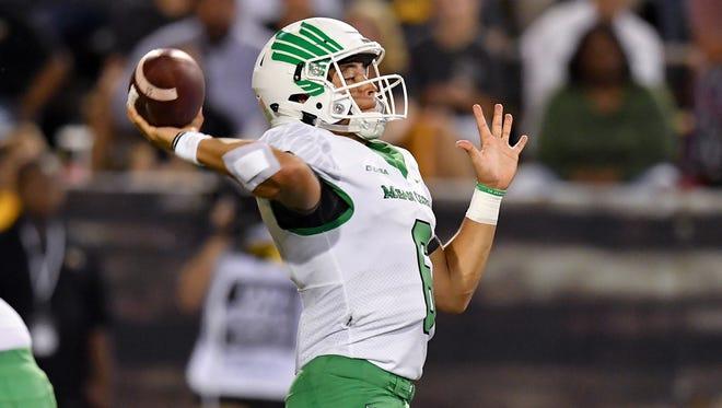 University of North Texas Mean Green Football v USM Golden Eagles on September 30, 2017 at MM Roberts Stadium in Hattiesburg, Mississippi.
