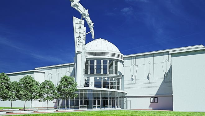 A rendering of the planned Galaxy Theatres at the Victorian Square Cinema in Sparks.
