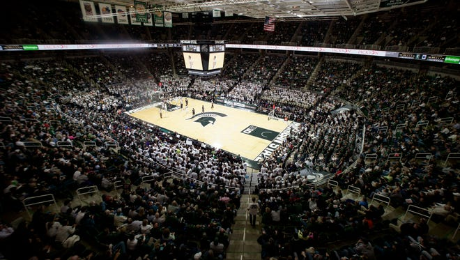 Michigan State and Penn State play Jan. 21, 2015, in East Lansing.
