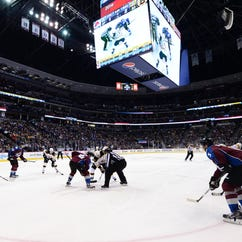 A general view during the third period between the Boston Bruins and the Colorado Avalanche at the Pepsi Center last season.