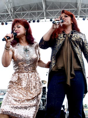 The Judds (Naomi, left and Wynonna, right) have announced a nine-show Vegas residency.