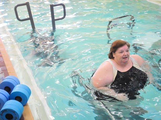 Pam Jennings runs a half-marathon Friday at H3O Aquatics in Murfreesboro. The race was her 18th this year. She completed her first water 5K on March 19, running 3.1 miles in 36 minutes.