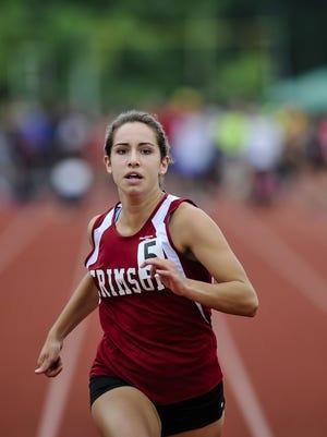 Morristown-Beard freshman Nicole Borowiec competes in the NJSIAA Non-Public B 100 meters.