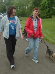 Farmington Hills residents Cindy Smits, left, and Carrie