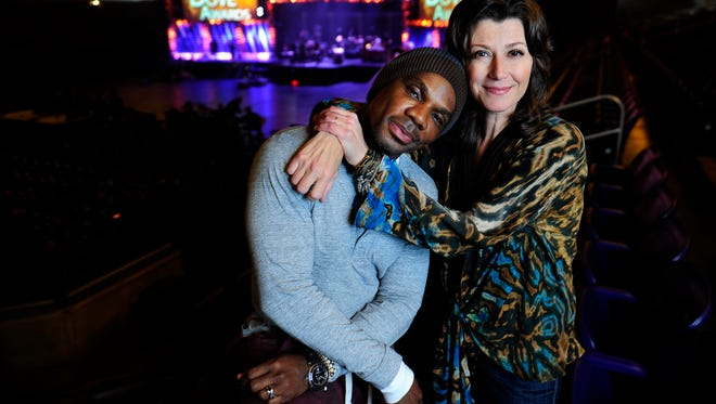 Kirk Franklin and Amy Grant are co-hosting the Dove Awards on Tuesday night at Lipscomb University's Allen Arena in Nashville.
