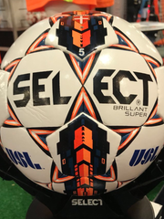 """The SELECT """"Brilliant Super"""" is the official 2018 USL match ball."""