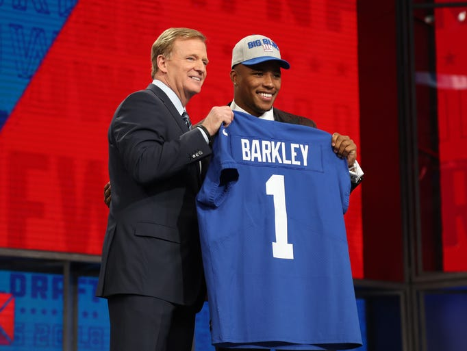 Saquon Barkley is selected as the number two overall