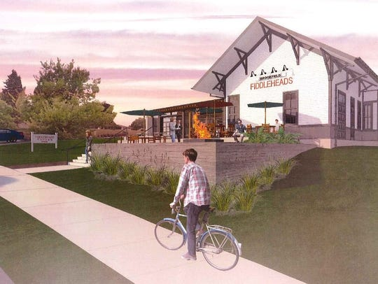 Fiddleheads will refurbish a historic train depot and redevelop it into a cafe and coffeehouse.