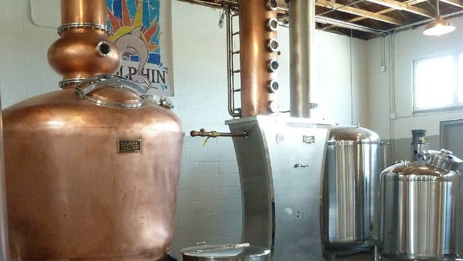 The copper still at Wicked Dolphin Artisan Rum in Cape Coral