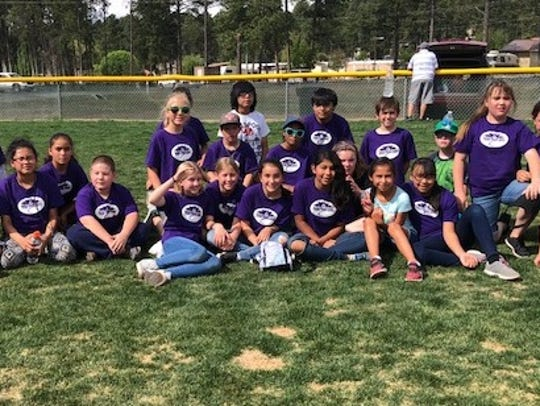 The Purple People Eaters took third place in the kickball