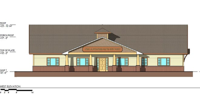 Rendering of a proposed North East Quadrant Advanced Life Support building on Jackson Road.