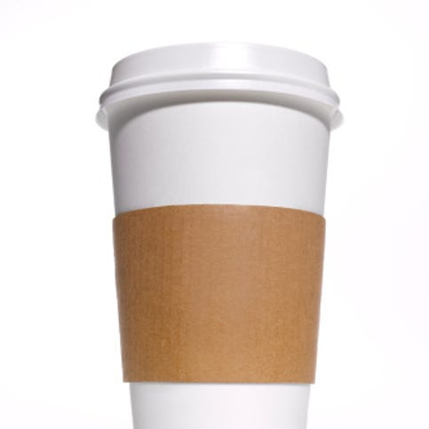 Disposable coffee/tea cup with heat protector