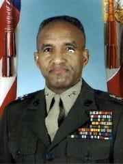 Major General Arnold Fields, USMC (Ret.) will 'pin'