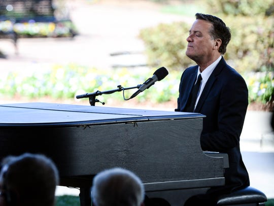 "Musical artist Michael W. Smith sings ""Above All"" during"