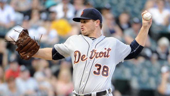599532862.jpg CHICAGO, IL - SEPTEMBER 05: Justin Wilson #38 of the Detroit Tigers pitches against the Chicago White Sox during the ninth inning on September 5, 2016 at U. S. Cellular Field in Chicago, Illinois. (Photo by David Banks/Getty Images)
