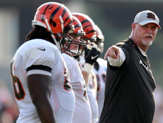 Cincinnati Bengals offensive line coach Frank Pollack