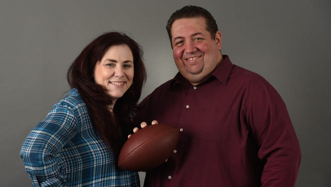 Photo of sports columnists Tara Sullivan and Art Stapleton,