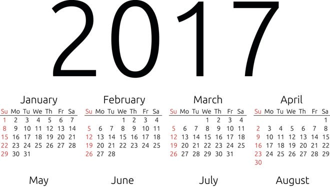 I really like being surrounded by multiple calendars.