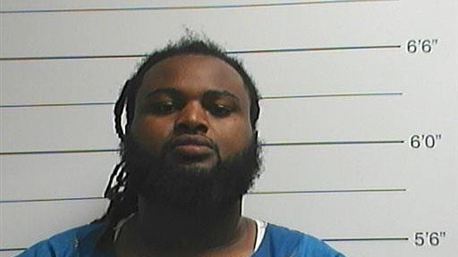 This photo provided by the Orleans Parish Sheriff's Office shows Cardell Hayes. Police say Hayes has been charged with second-degree murder in the death of former New Orleans Saints defensive end Will Smith, who was shot and killed Saturday night.