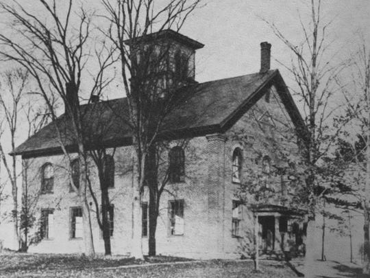 The Essex Classical Institute in the 1940s. It became Essex Center High School and was torn down in the 1970s.