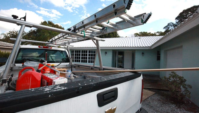 A Fort Myers rehab nears completion on Tuesday, Feb. 7. The home purchase and rehab was financed with a crowd-funded loan from PatchOfLand.com.
