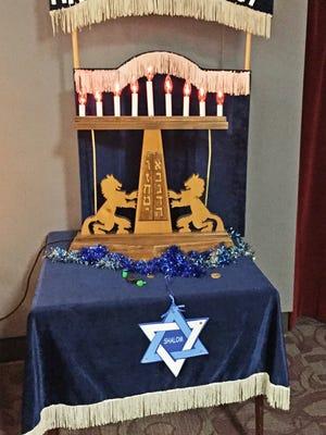 A Happy Hanukkah display.