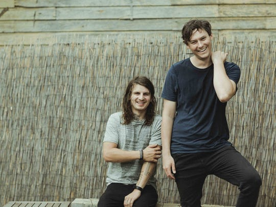 The Front Bottoms, from left, Mat Uychich and Brian Sell.
