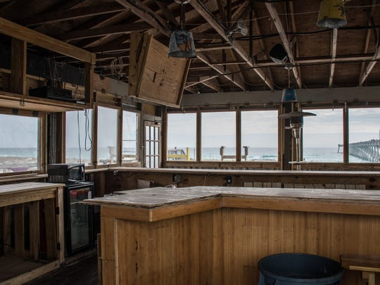 Renovations continue Tuesday, Dec. 26, 2017, at Windjammers on the Pier, the new restaurant and bar at the Navarre Beach Pier.