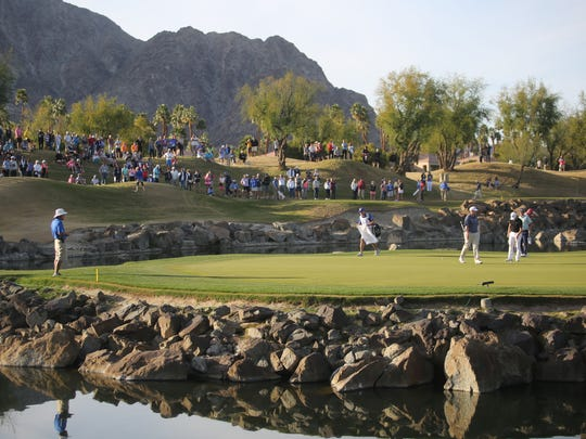 The 17th green on the Stadium Course during the final round of the CareerBuilder Challenge on Sunday, January 21, 2018 in La Quinta, CA.