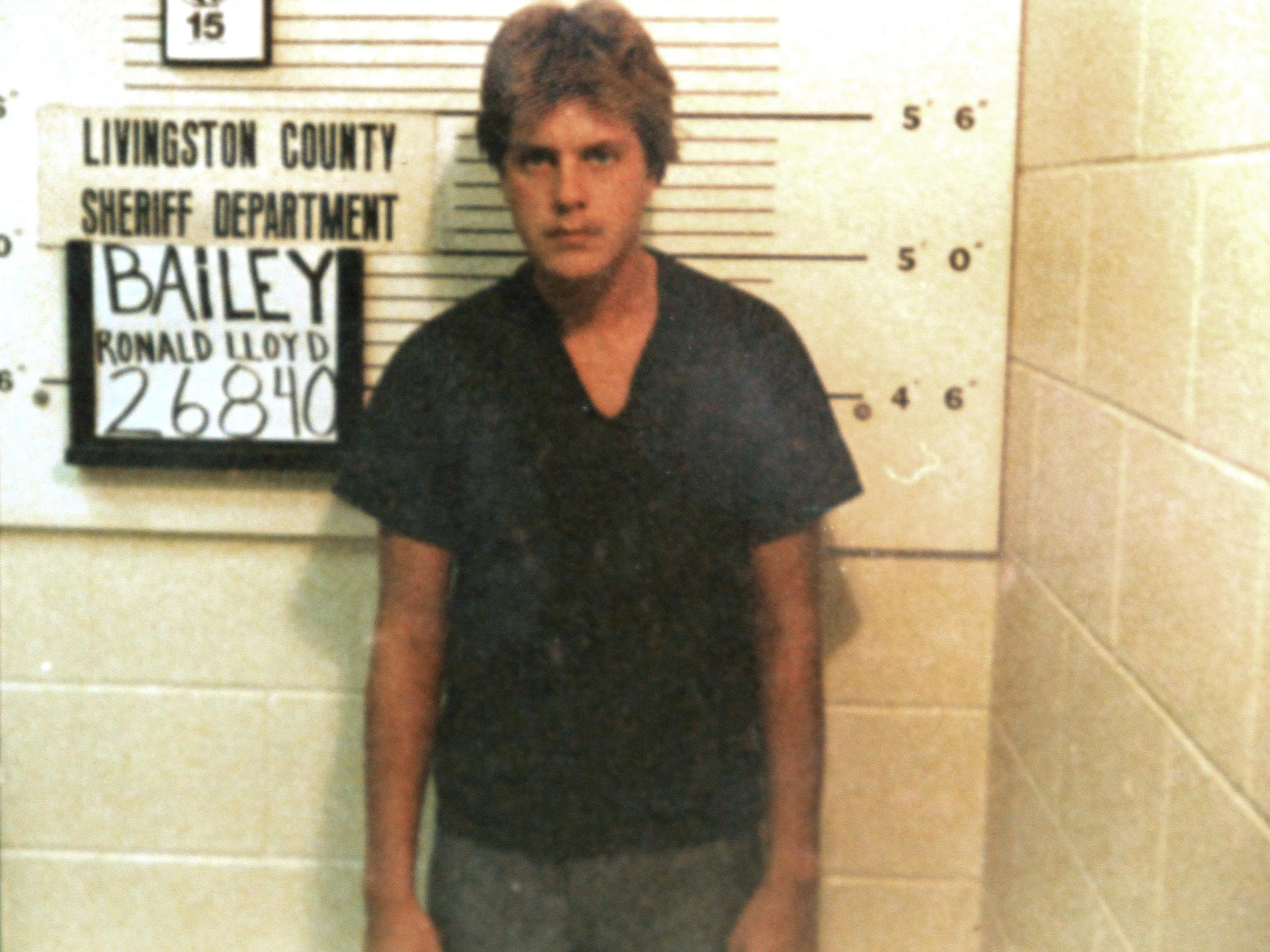 Ronald Lloyd Bailey was booked into the Livingston County Jail in September 1985.
