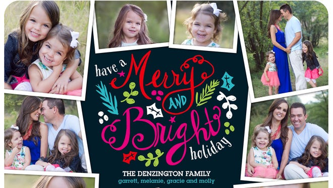 A holiday card option from Shutterfly.