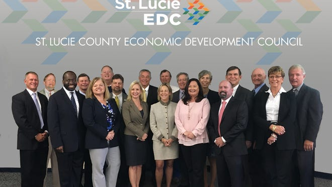 The 2017 board of the St. Lucie County Economic Development Council.