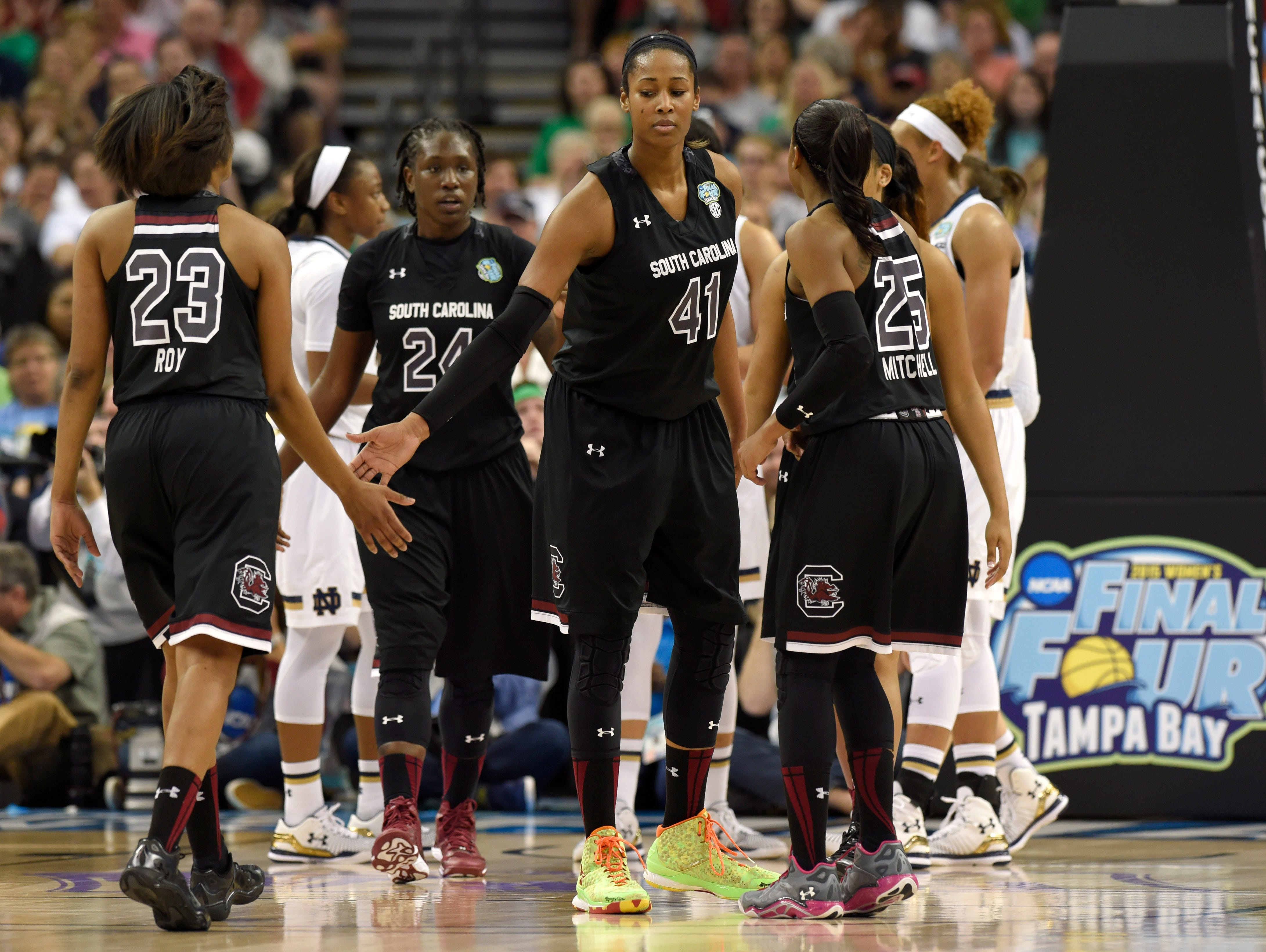 USC's Alaina Coates from Dutch Fork HS is one of three players who will be trying to earn spots on U.S. teams.