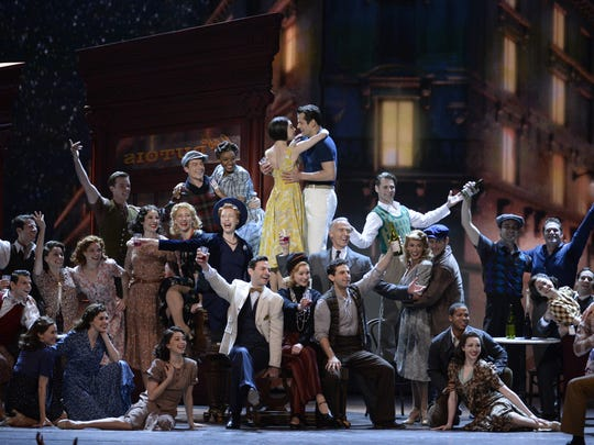 The cast of An American in paris performs at the 69th annual Tony Awards.