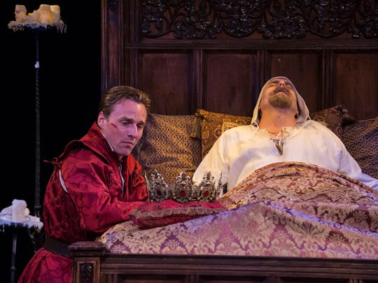 """Sam Ashdown plays Prince Henry and Larry Bull plays King Henry IV in the Utah Shakespeare FestivalÕs 2015 production of """"King Henry IV Part Two."""""""