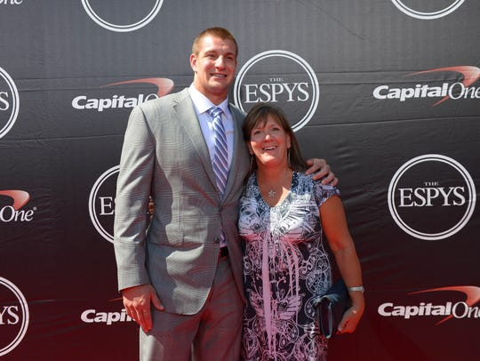 Rob Gronkowski and his mother Diane at the 2015 ESPY's.