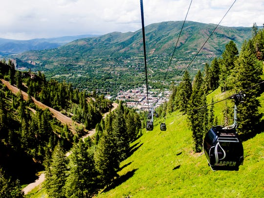 The Silver Queen Gondola runs up and down Aspen Mountain Wednesday, July 22, 2015, in Aspen, CO.