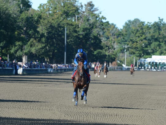 The backside at Saratoga also was packed as horsemen and their friends sought a glimpse of greatness -- practicing.