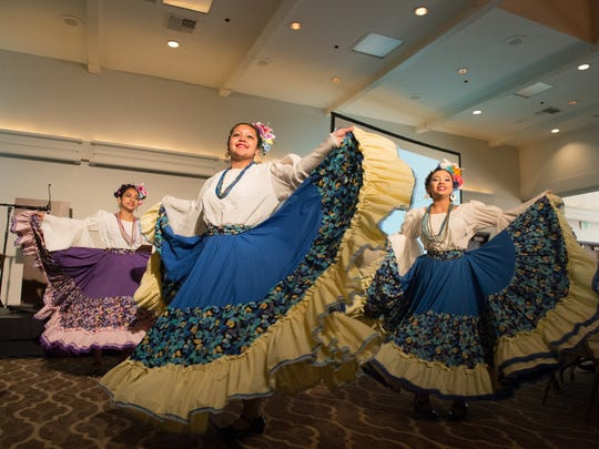 Members of Ballet Folklorico Ritmo Alegre perform at the 2015 Oregon Arts Summit in Ashland earlier this month.