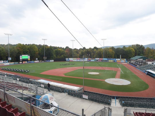 The view from the battery section at Dutchess Stadium in Fishkill on Friday.