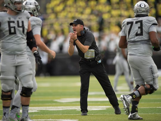 Coach Mark Helfrich and the Oregon Ducks are 3-3, including