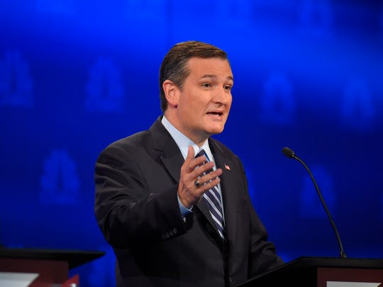 Ted Cruz speaks during the CNBC Republican presidential debate at the University of Colorado, Wednesday, Oct. 28, 2015, in Boulder, Colo.