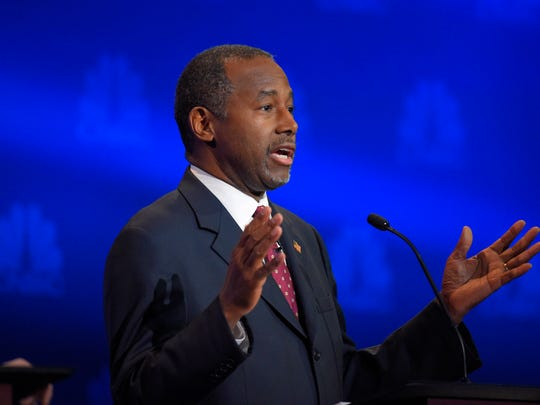 Ben Carson speaks during the CNBC Republican presidential