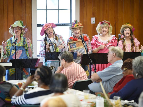The Ragger Roos Comedy Washboard Band performs for the Harvest Fest party for Hinds' Institute of LIfelong Learning in Raymond recently.