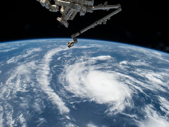 An American astronaut took this photo of Hurricane Danny from the International Space Station.