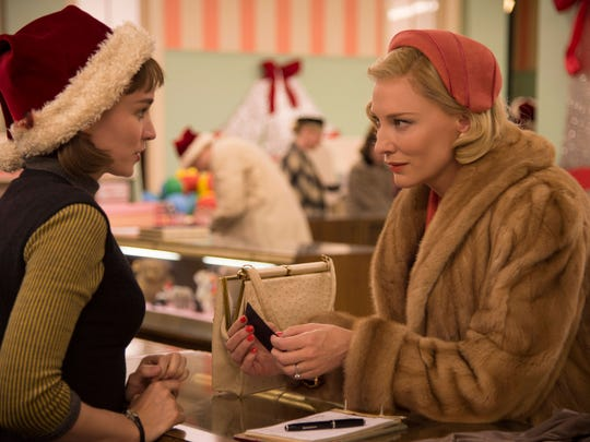"""Rooney Mara and Cate Blanchett are women who fall in love in the 1950s in """"Carol."""""""