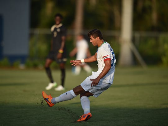 FGCU defender Aaron Guillen was the Atlantic Sun Conference Defensive Player of the Year as a senior.