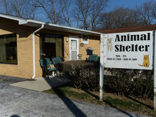 County and city officials say local shelters such as the government-supported one at 1825 Chester Blvd. operated by the Animal Welfare League are too full to take on more dogs right now.